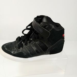 Adidas Black Red High Top Athletic Shoe 7.5